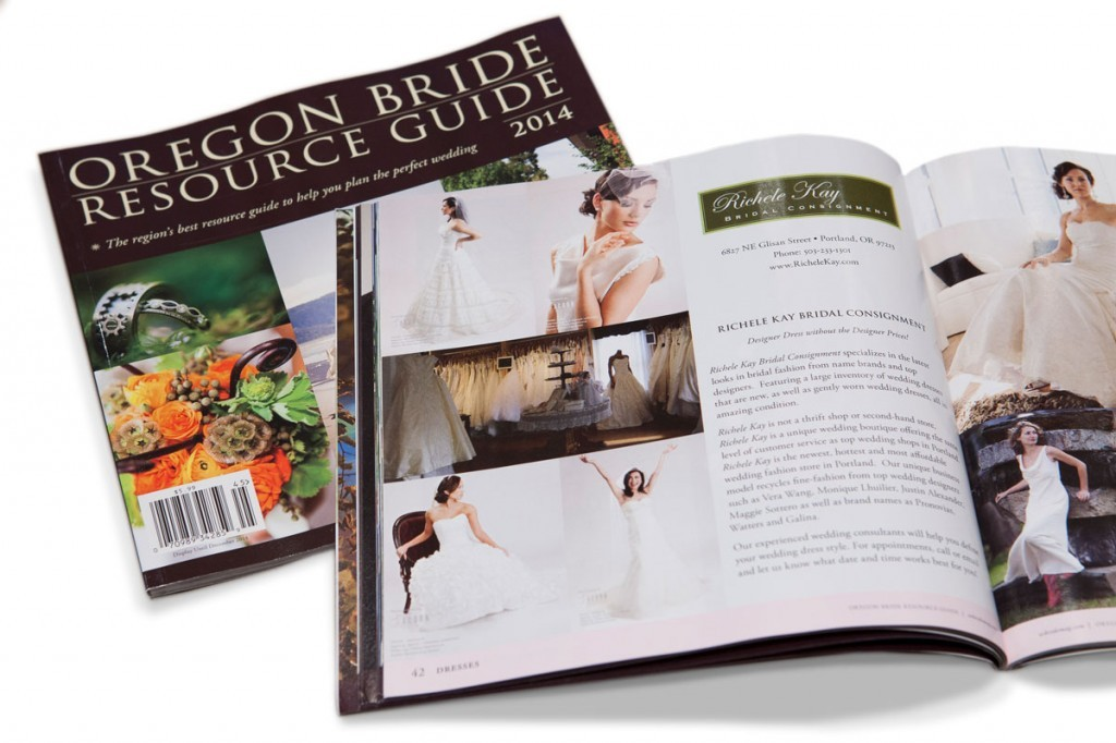 Featured: the knot and oregon bride magazine; wedding photography.